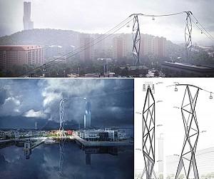 طراحی شهری با سیستم حمل و نقل هوایی برای شهر گوتنبرگ
