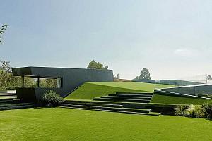 طراحی ویلای مینیمال بام سبز