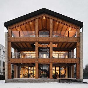 طراحی ساختمان اداری با چوب