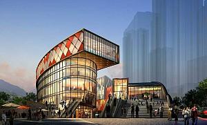 طراحی مرکز تجاری به سبک اژدهای چینی