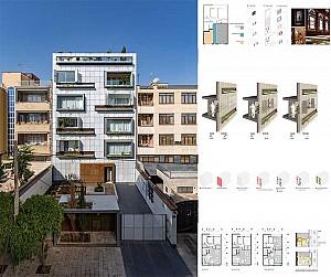 طراحی آپارتمان مسکونی قاضی زاده در شیراز