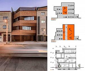 طراحی خانه مسکونی قروه از رنا دیزاین