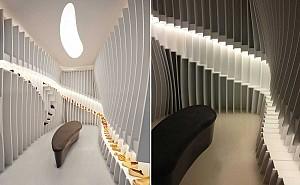طراحی داخلی فروشگاه کفش در 13 متر مربع