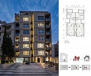 طراحی ساختمان مسکونی پارک تهران از استودیو طراحی اتابکی
