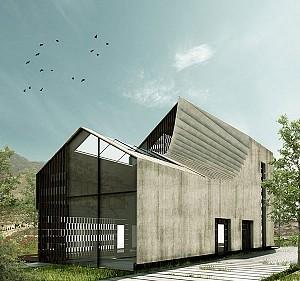 طراحی مفهومی حبیبه مجدآبادی از حمام-خانه جهش یافته در تهران