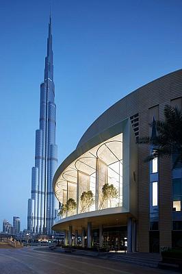 طراحی فروشگاه اپل با نمای متحرک در دبی
