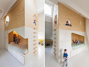 طراحی داخلی نمونه ای جذاب از اتاق خواب کودک و نوجوان!