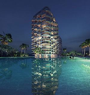 طراحی آپارتمان مسکونی لوکس توسط گروه معماری زاهاحدید