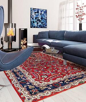 26 نمونه از طراحی و دکوراسیون داخلی با فرش های ایرانی