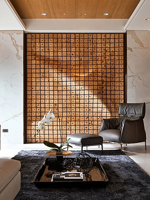 2 آپارتمان با طراحی متمرکز بر المان های چوبی
