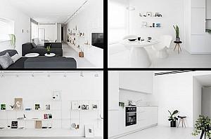 طراحی دو آپارتمان سفید که نشان می دهند، رنگ همه چیز نیست!