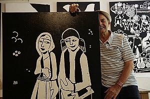 دوشنبه های هنرهای تجسمی: رضا بانگیز، نقاش و مجسمه ساز