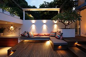 نکات کلیدی نورپردازی پذیرایی در فضای آزاد
