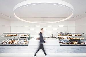طراحی شیرینی پزی مدرن در 92 متر
