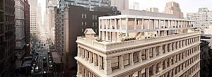 طراحی پنت هاوس دوبلکس مدرن روی ساختمان نئوکلاسیک