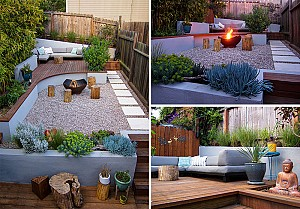طراحی خلاقانه یک حیاط نُقلی و دنج!