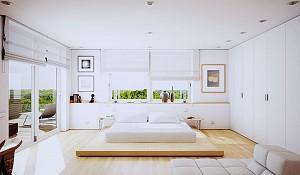 طراحی داخلی 30 نمونه اتاق خواب مدرن به رنگ سفید