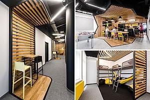 معماری داخلی دفتر اداری فن آوری در لهستان