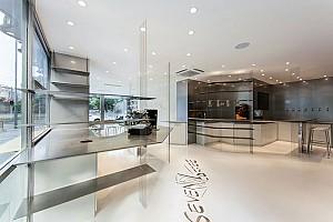 طراحی داخلی کافه هفت در 100 متر مربع