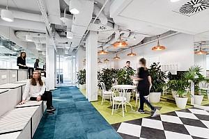طراحی داخلی دفتر اداری بازاریابی به سبک صنعتی