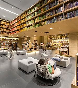 طراحی داخلی فروشگاه لوازم التحریر و کتابفروشی