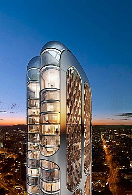 کانسپتی آینده نگر از برج مسکونی 197 استرالیا