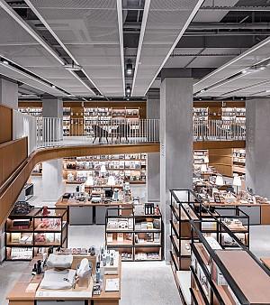 طراحی و دکوراسیون داخلی کتابفروشی چند منظوره