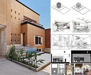 طراحی خانه فیروزمندان در شهر تاریخی لار