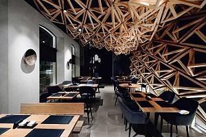 طراحی داخلی رستوران ژاپنی در 80 متر