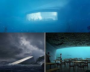 اولین طراحی رستوران زیر آب در اروپا را مشاهده کنید