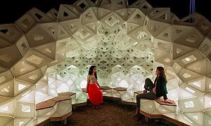 طراحی پاویون موقت با  الهام از هنر اوریگامی