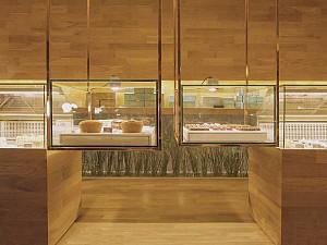طراحی کافه قنادی مینیمال Tetê
