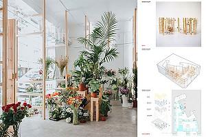 طراحی داخلی گلفروشی ارکید در گرانادا اسپانیا