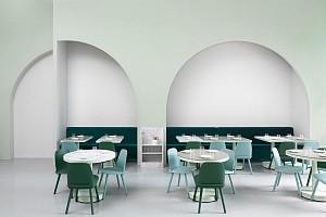 سبک وس اندرسون در طراحی مدرن و مینیمال کافی شاپ بوداپست