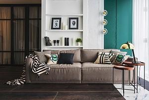 بهترین هارمونی برای طراحی فضای داخلی با رنگ سبزوطلایی