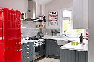 ایده هایی برای انتخاب رنگ در طراحی دکوراسیون آشپزخانه : رنگ هایی که هرگز از مد افتاده نمی شوند.
