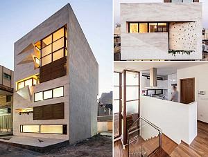 طراحی ساختمان مسکونی خانه کوچک اصفهان