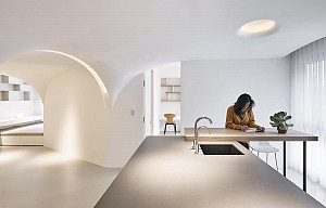 طراحی داخلی آپارتمان با کانسپت روح زندگی  و حیات