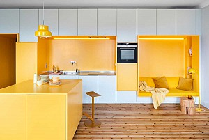 طراحی داخلی آپارتمان 80 متری با دیوارهای مدولار