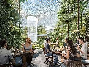 طراحی چالش برانگیز فرودگاه سنگاپور با معماری سبز موشه سفدی