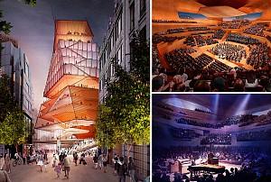 طراحی جسورانه سالن کنسرت و موسیقی لندن /  ریک اسکوفیدو و لیزا دیلر