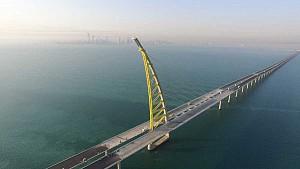 اجرای طولانی ترین پل جهان در کویت به اتمام نزدیک است