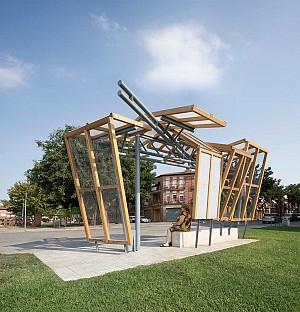 طراحی ایستگاه اتوبوس : پنجره هایی که امید را به فضای شهری می آورند