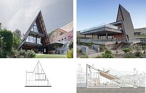 سقف هایی که نقش دیوار را در طراحی نما بازی می کنند!