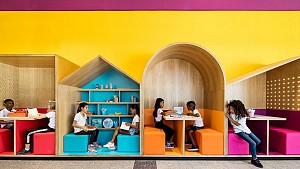 طراحی مدرسه رنگارنگ برای کودکان پناهجو
