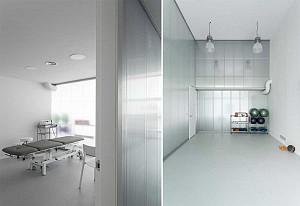 طراحی داخلی کلینیک فیزیوتراپی + پلان