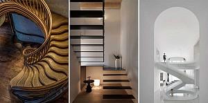 20 طراحی راه پله داخلی ساختمان