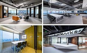 طراحی داخلی شرکت نرم افزاری با ایده نشان دادن قدرت شرکت