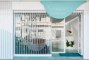 طراحی کلینیک دندانپزشکی با رنگ و کانسپت معمارانه