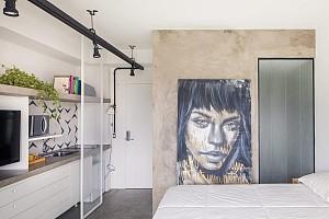 طراحی داخلی آپارتمان تنها با 24 مترمربع فضا